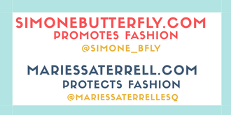 SIMONE BUTTERFLY FABULOUS FREELANCE FASHION INVESTIGATOR®